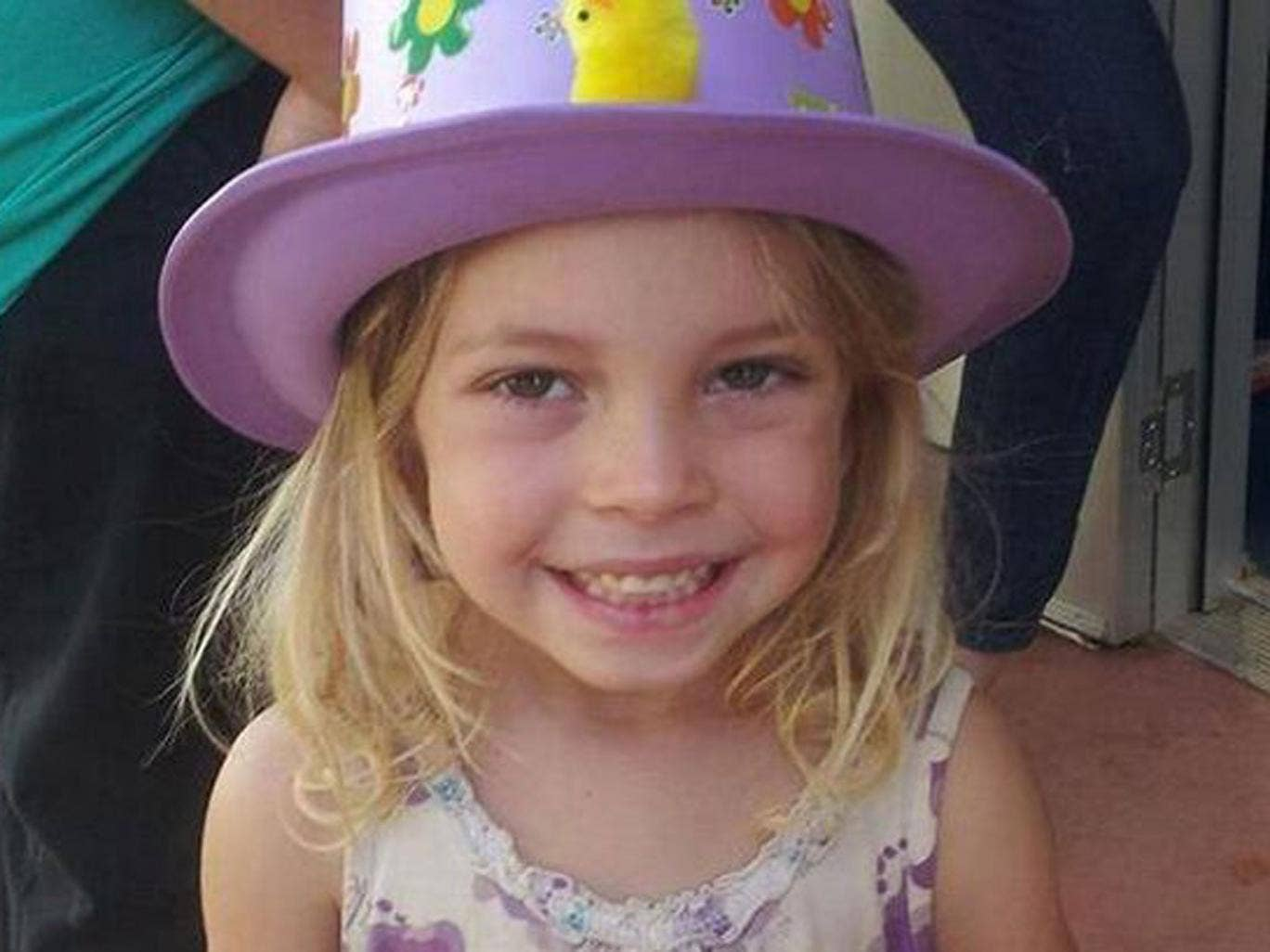 Officers searching for Chloe Campbell issued a 'child abduction alert' shortly after 9am local time, meaning a message was broadcast on local radio every 15 minutes.