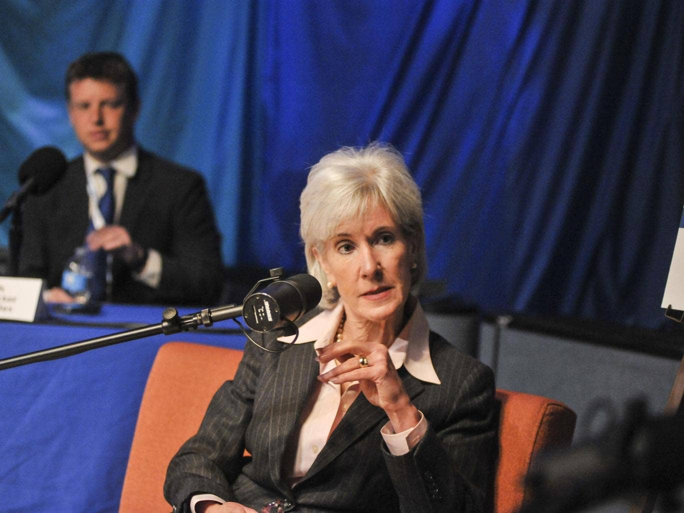 The US health and human services (HHS) secretary Kathleen Sebelius