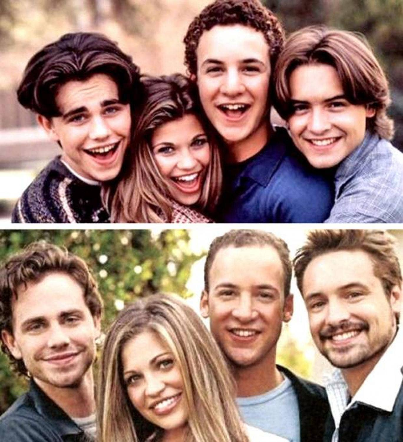 Then and now: (Top) 'Boy Meets World'; (Bottom) 'Girl Meets World'