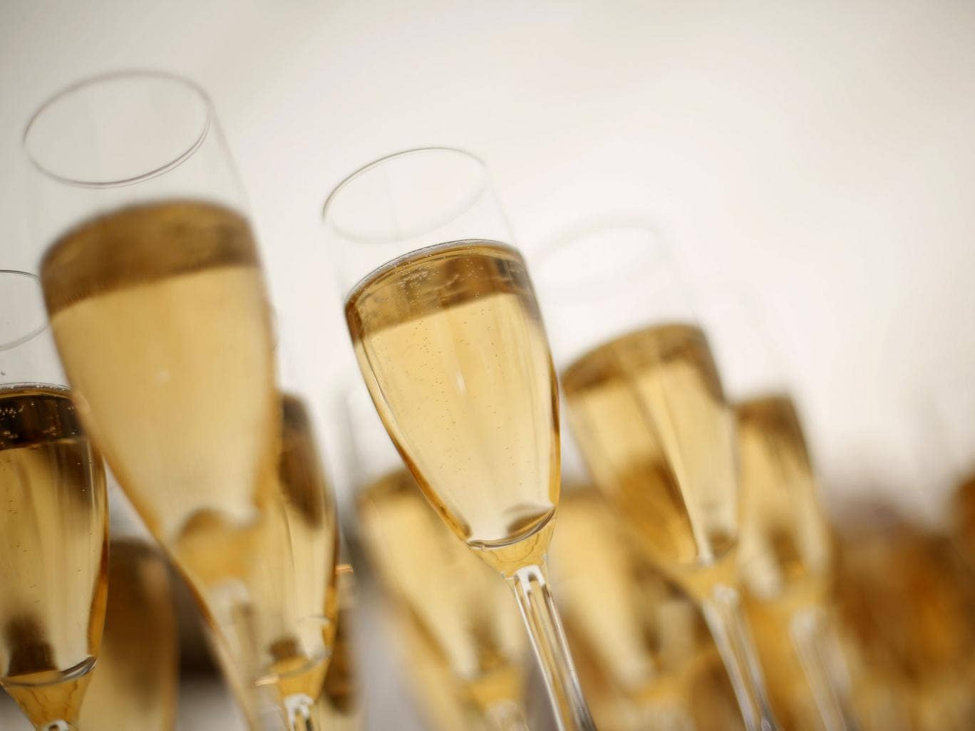 Champagne sales were down 5.1 per cent by volume and 3.8 per cent in terms of value in the UK