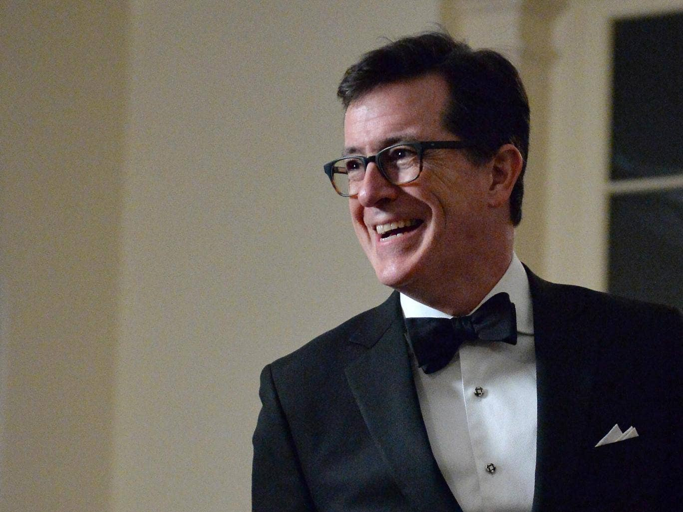 Political comedian Stephen Colbert, who will be replacing David Letterman on 'The Late Show'