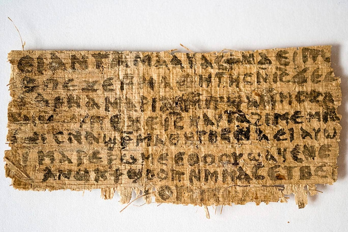 The fragment is written on papyrus in the Coptic alphabet and new radiocarbon dating suggests it was written in AD741