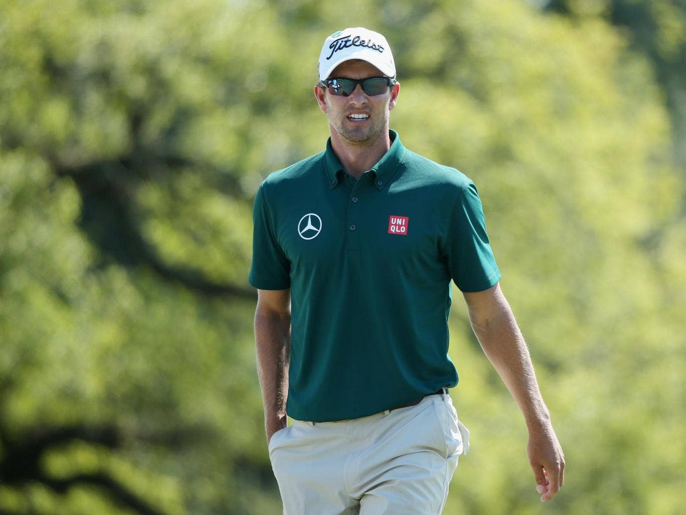 Adam Scott is hoping to build on his competitive 69 as he continues to defend his Masters title
