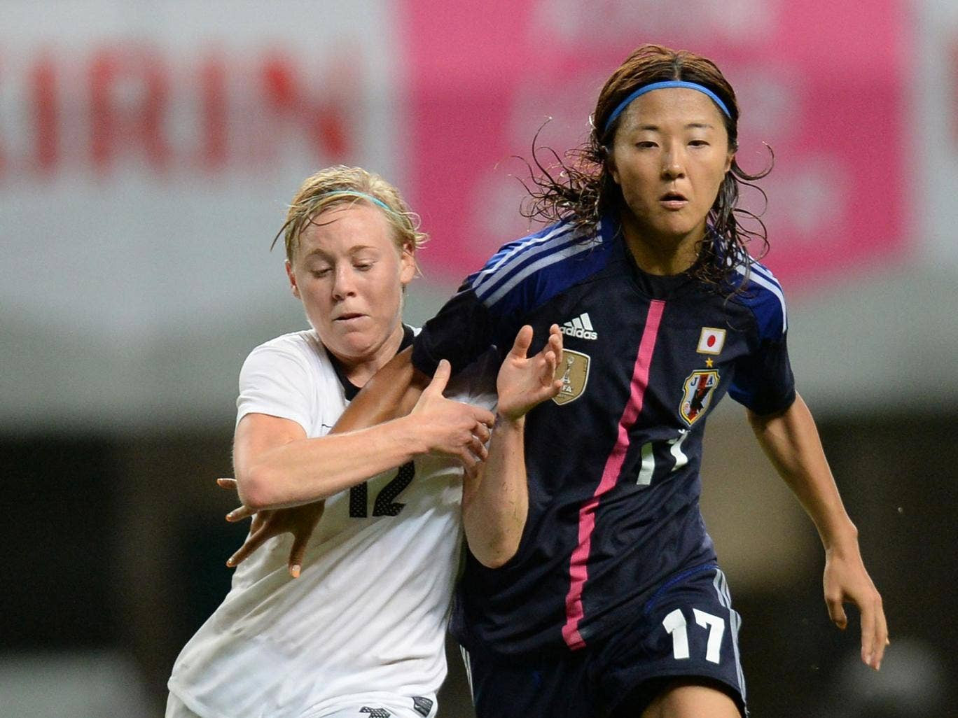 New Zealand's Betsy Hassett (left) has signed for Manchester City, while World Cup-winner Yuki Ogimi will play for Chelsea in this season's Women's Super League