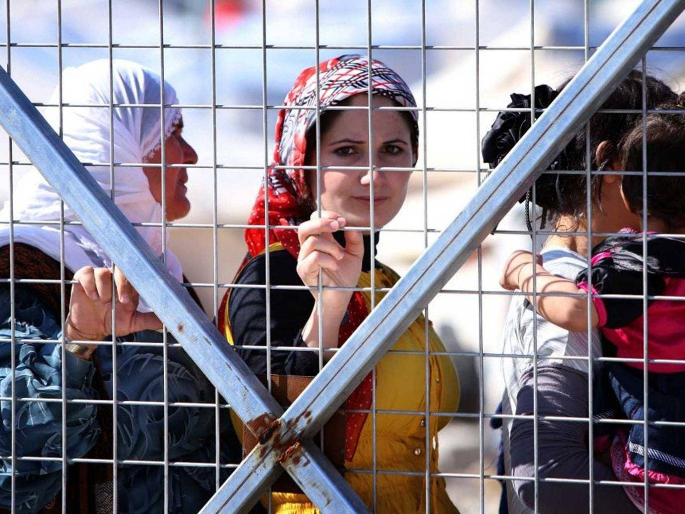 Syrian women and child refugees were allowed to enter the UK in January