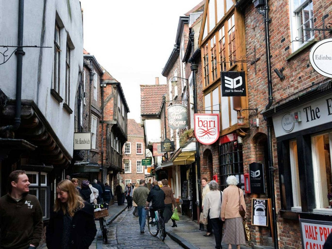 York's Shambles, where independent shops thrive