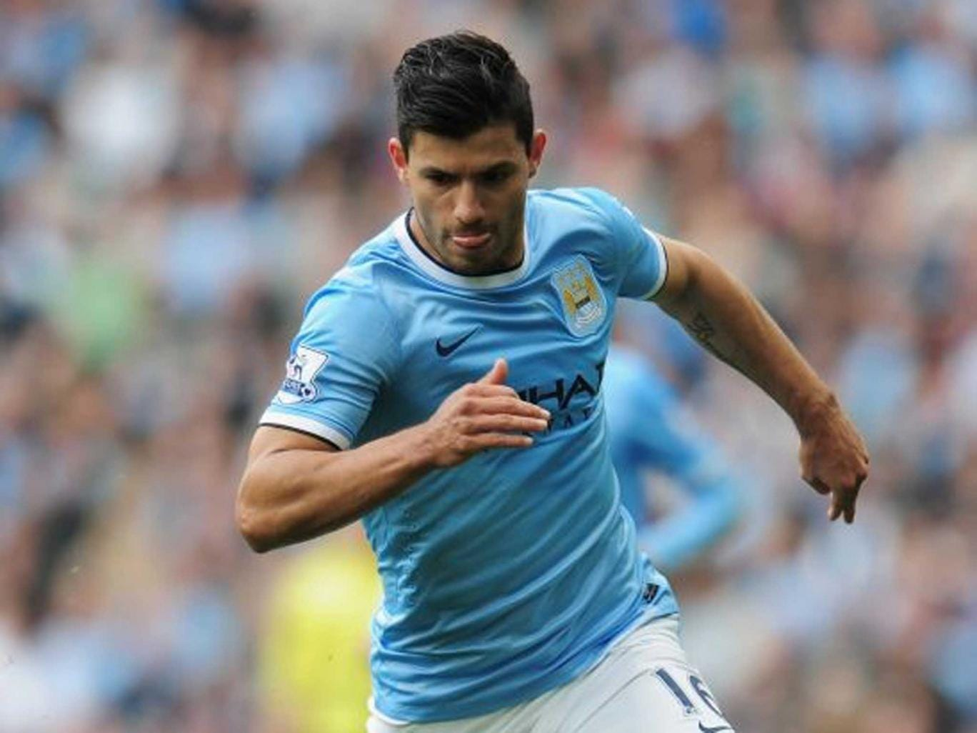 Ordinarily Pellegrini would like to ease Aguero back into action after a month out, but this may not be an option