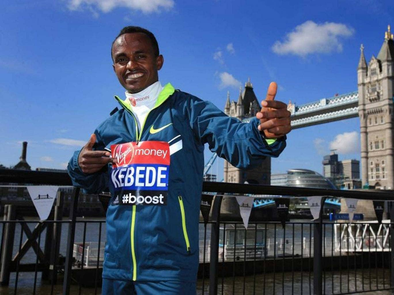 Tower of strength: Tsegaye Kebede believes he can break the course record if the weather conditions are favourable