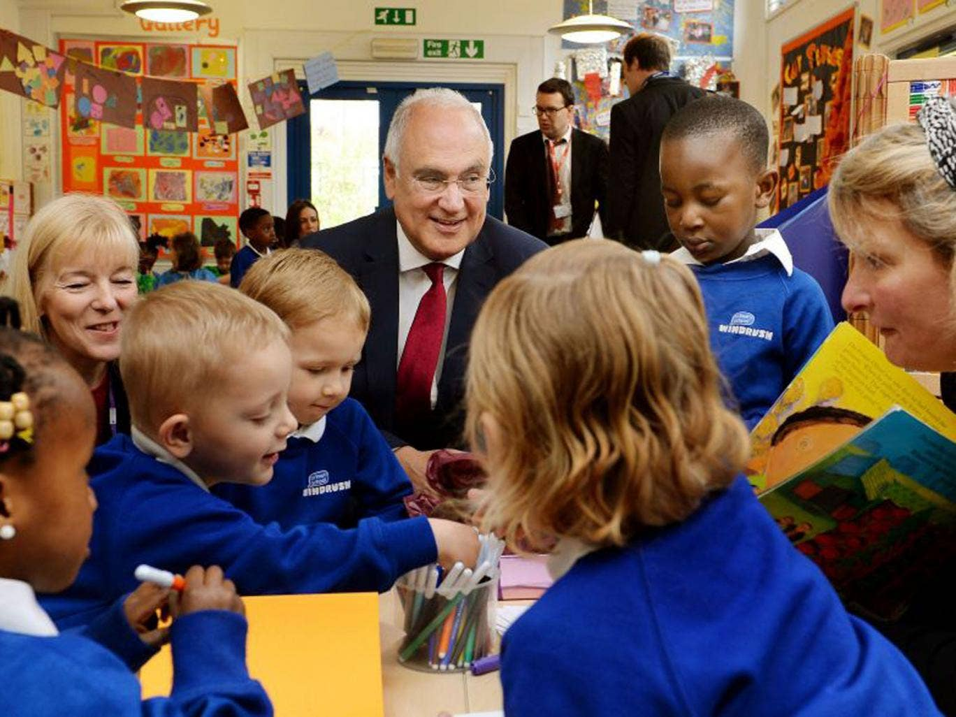 Chief schools inspector Sir Michael Wilshaw, centre, has said he is reviewing the role of private contractors in carrying out school inspections