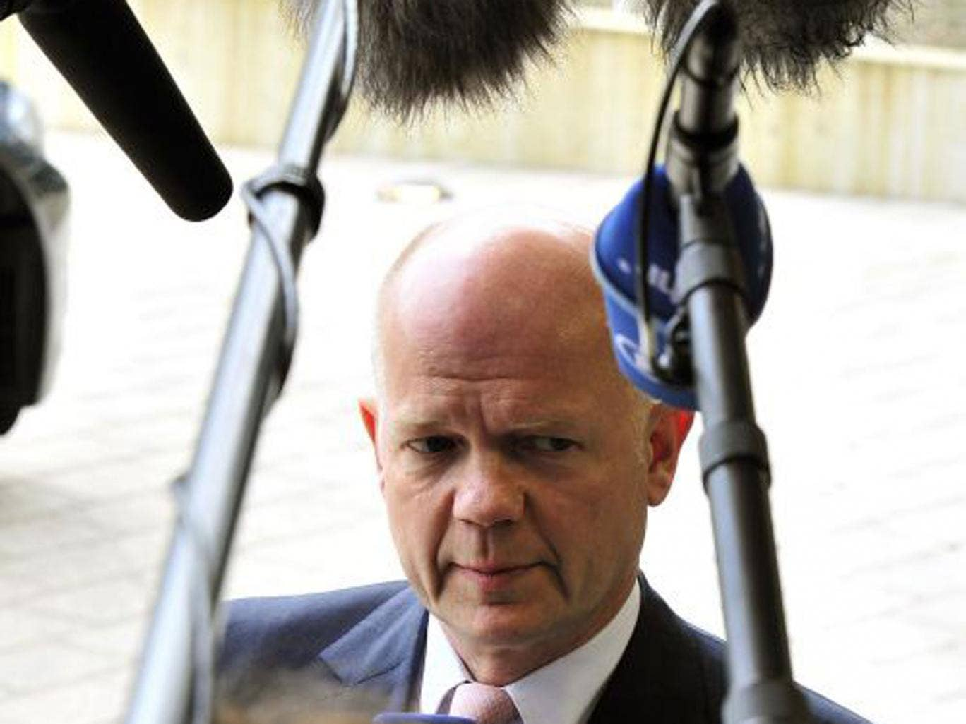The Foreign Secretary William Hague says Russia is behind the unrest in eastern Ukraine