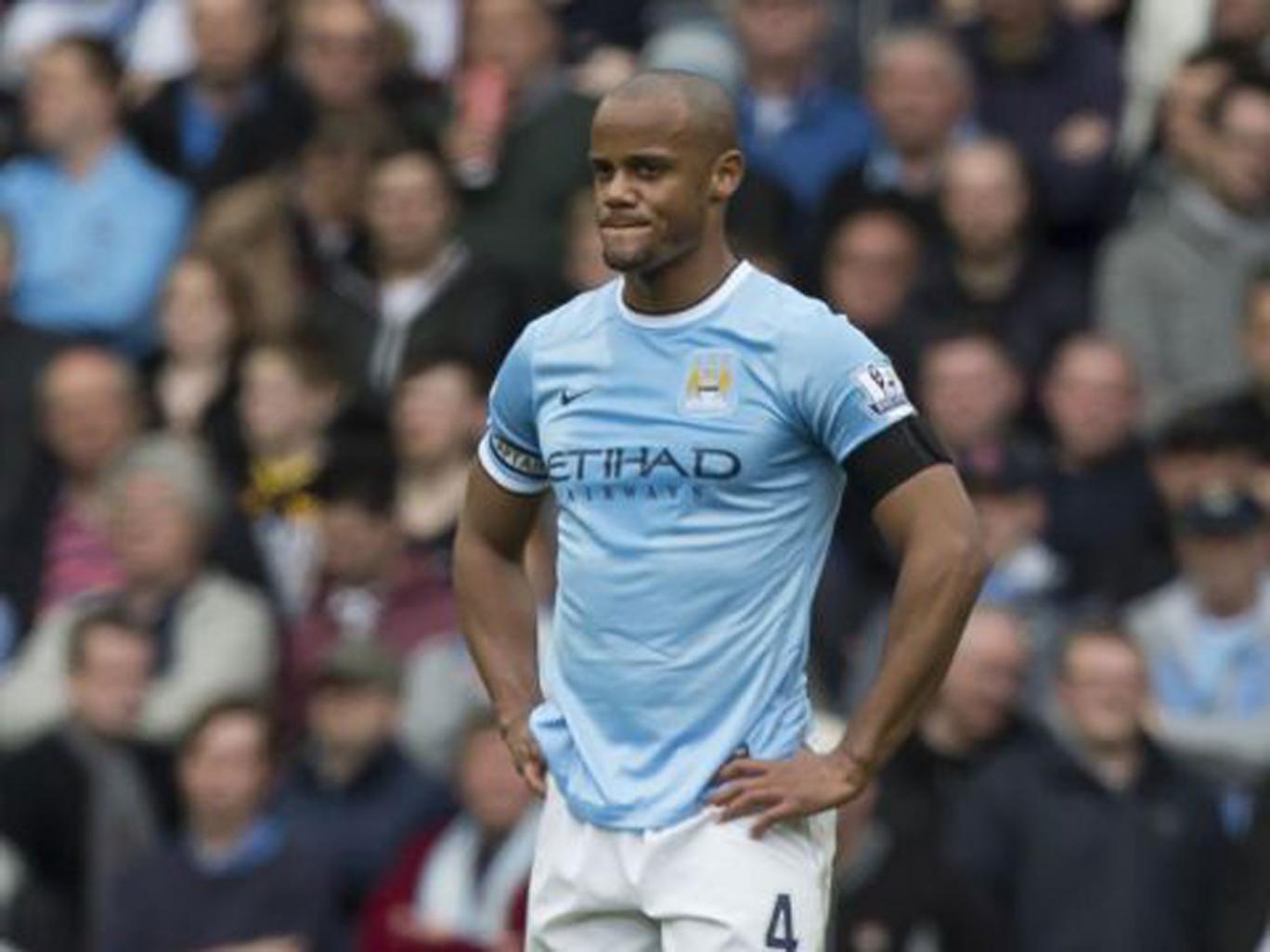 City defender Vincent Kompany