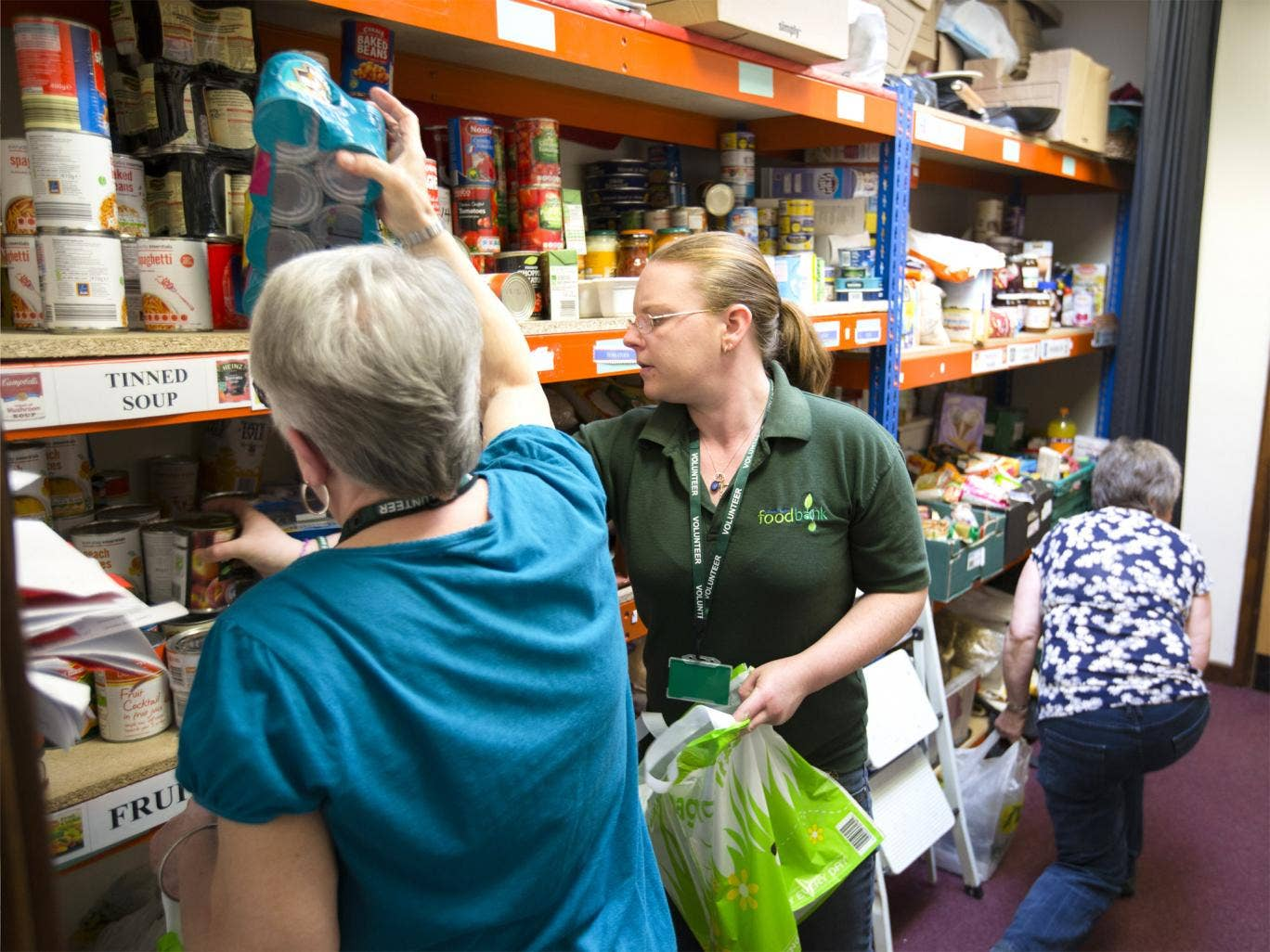 Volunteers at the Hope Centre, Coventry, help visitors