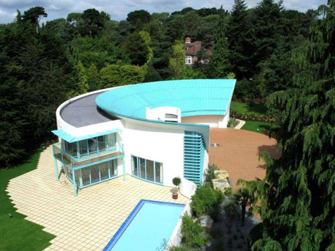 'Thunderbird' house: five bedroom detached house for sale at  Western Avenue, Branksome Park, Poole, Dorset BH13. On with Sotheby's at a guide price of £2,950,000.