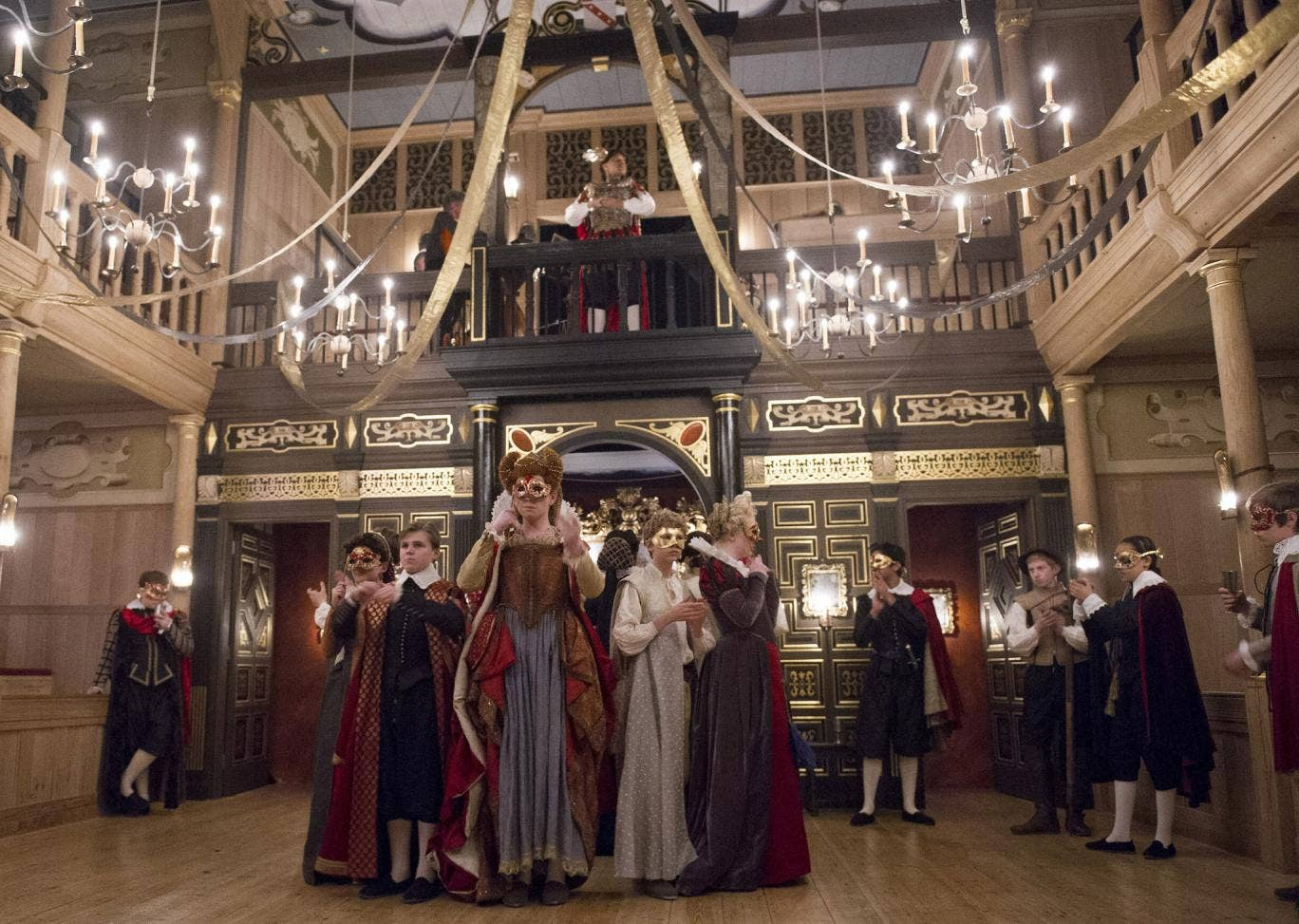 A scene from The Malcontent at the Sam Wanamaker Playhouse