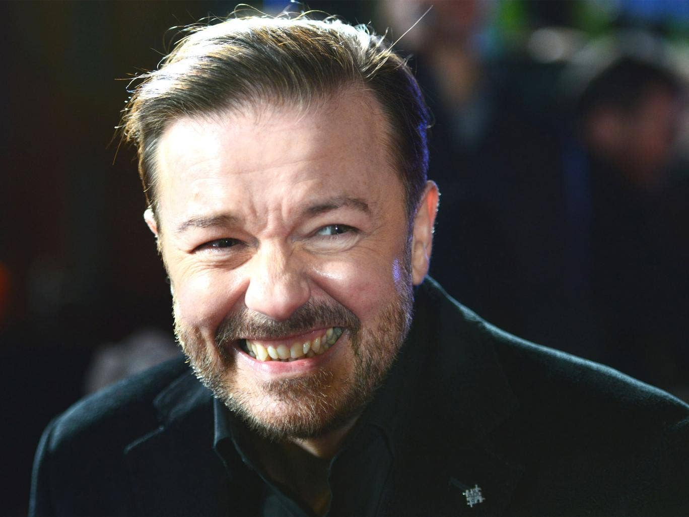 Ricky Gervais at a screening of 'Muppets Most Wanted' in London last month