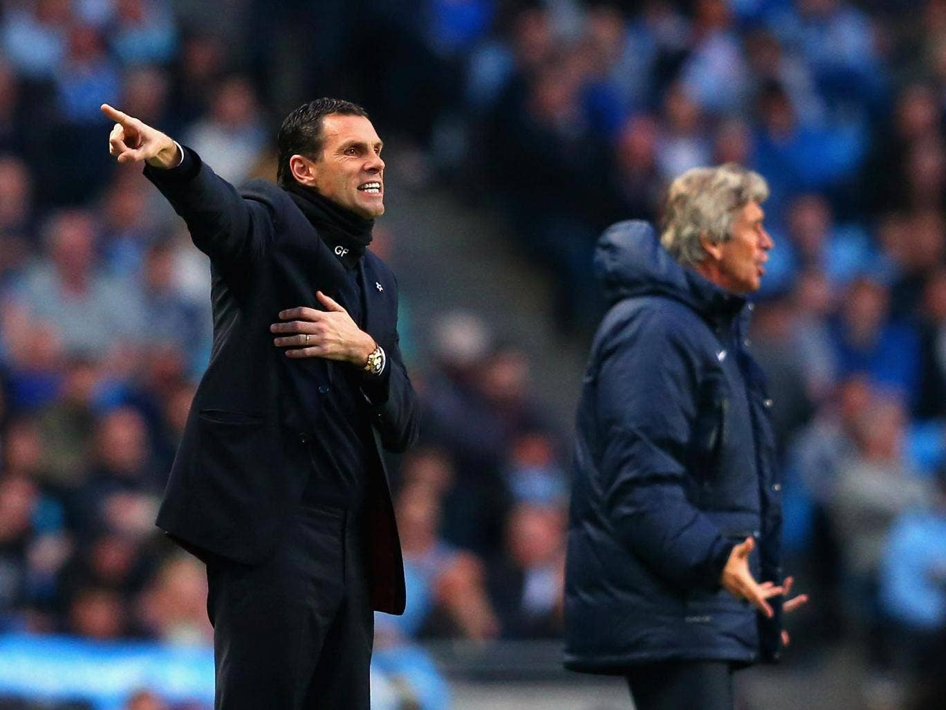 Gus Poyet was pleased with his Sunderland side's 2-2 draw with Manchester City
