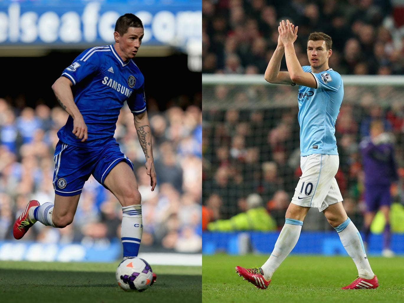 Fernando Torres and Edin Dzeko are both transfer targets for Inter Milan