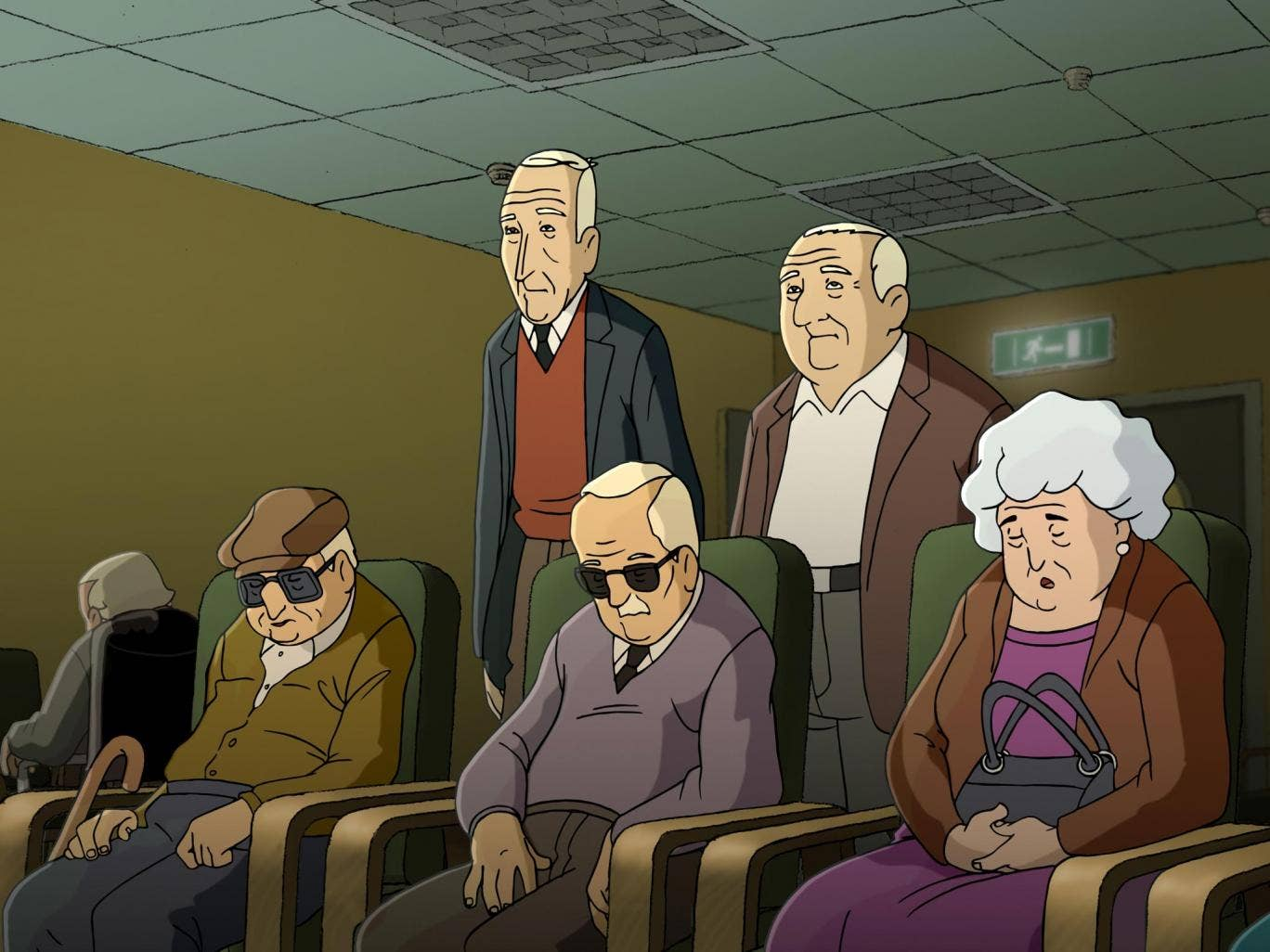Wrinkles portrays old-timers trying to cope with deteriorating health and trying to keep their dignity