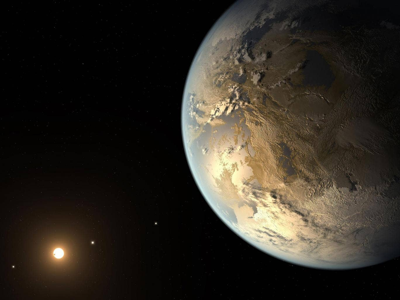 An artist's impression of Kepler-186f which may have conditions suitable to life