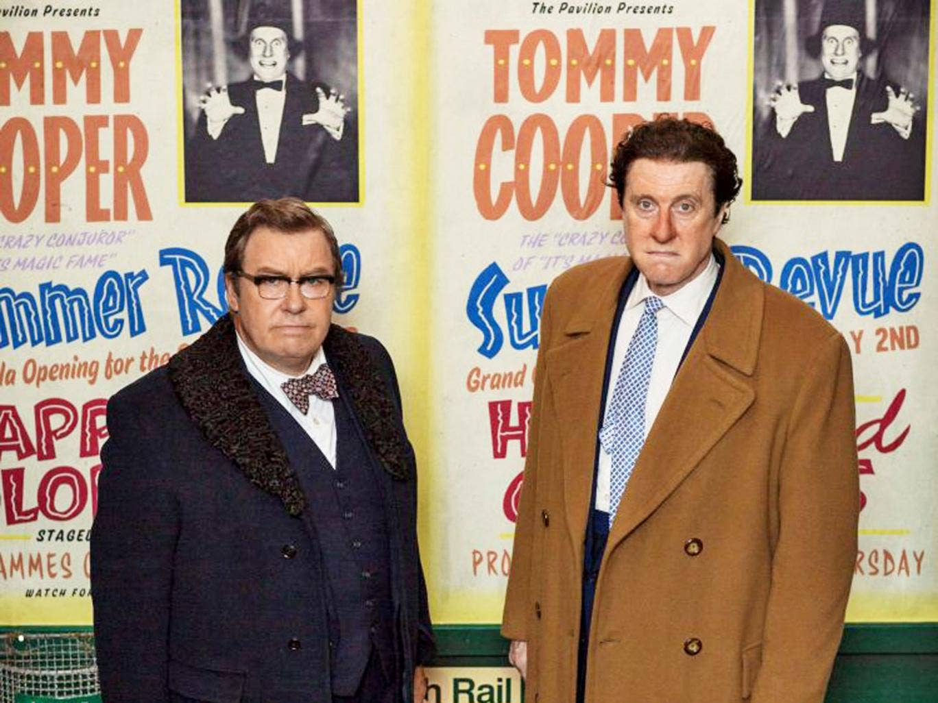 Tricky situation: Gregor Fisher and David Threlfall in 'Tommy Cooper: Not Like That, Like This'