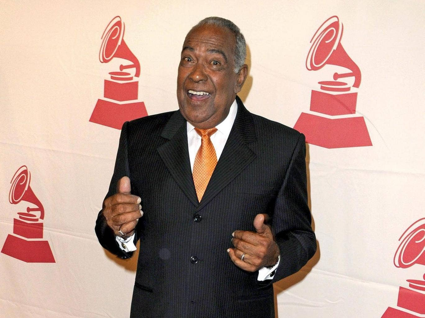 Feliciano in 2008, about to receive a Lifetime Achievement Award from the Latin Recording Academy