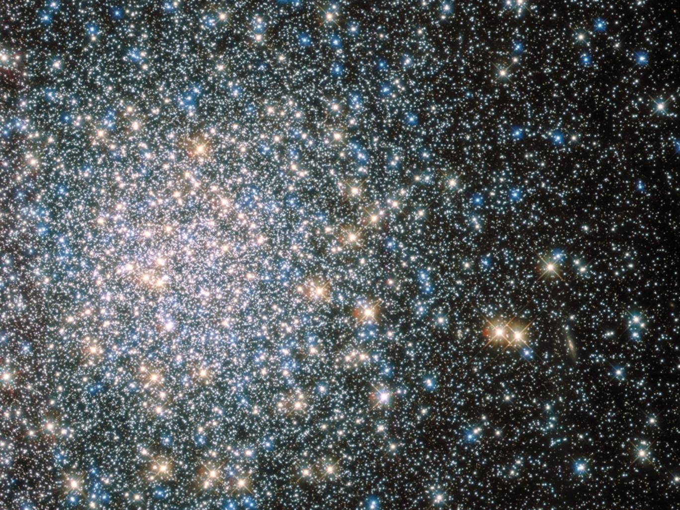 Nasa has released this image from the Hubble Space Telescope of an ancient star cluster