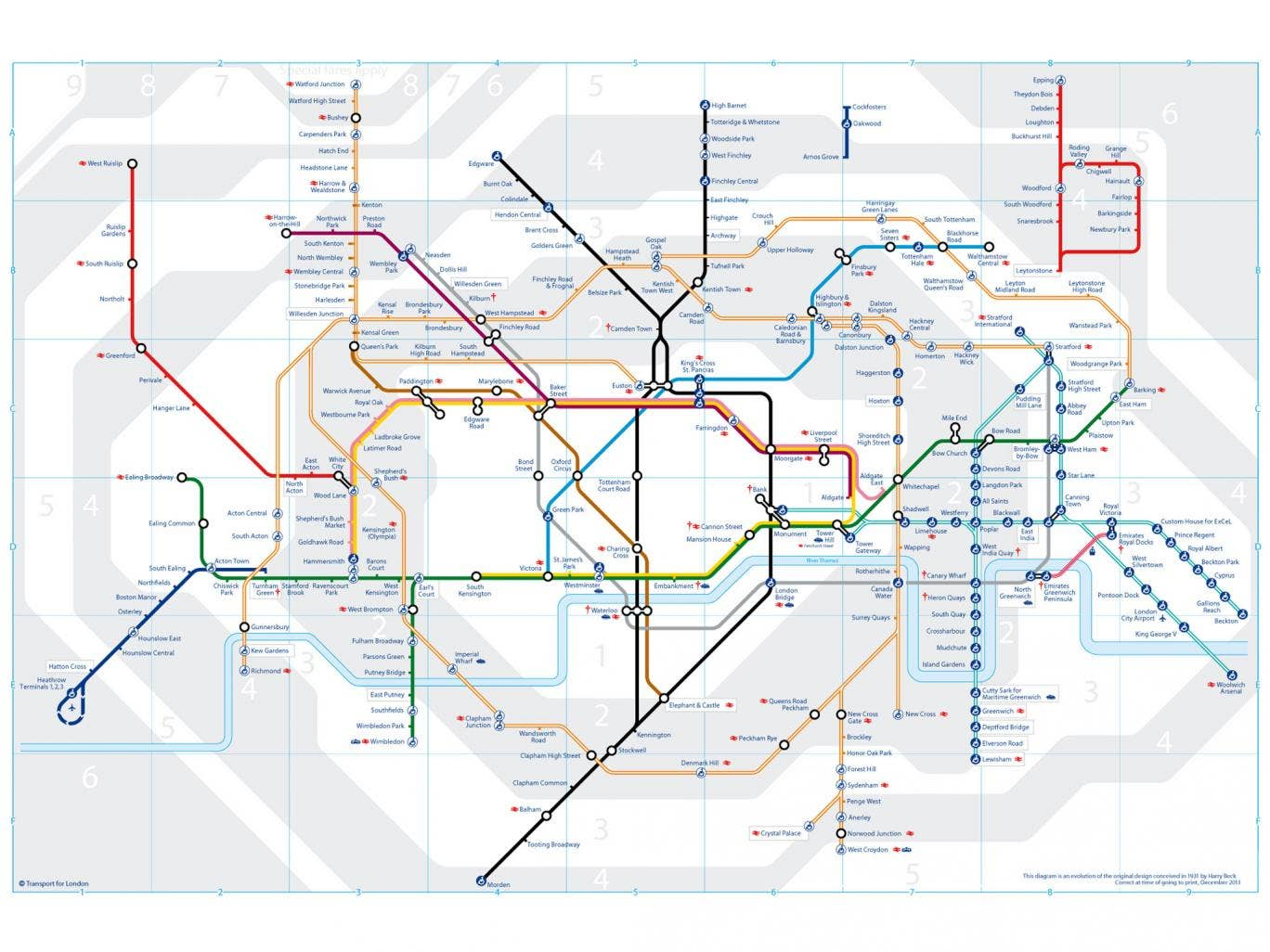 This is how the tube map will look during the strike