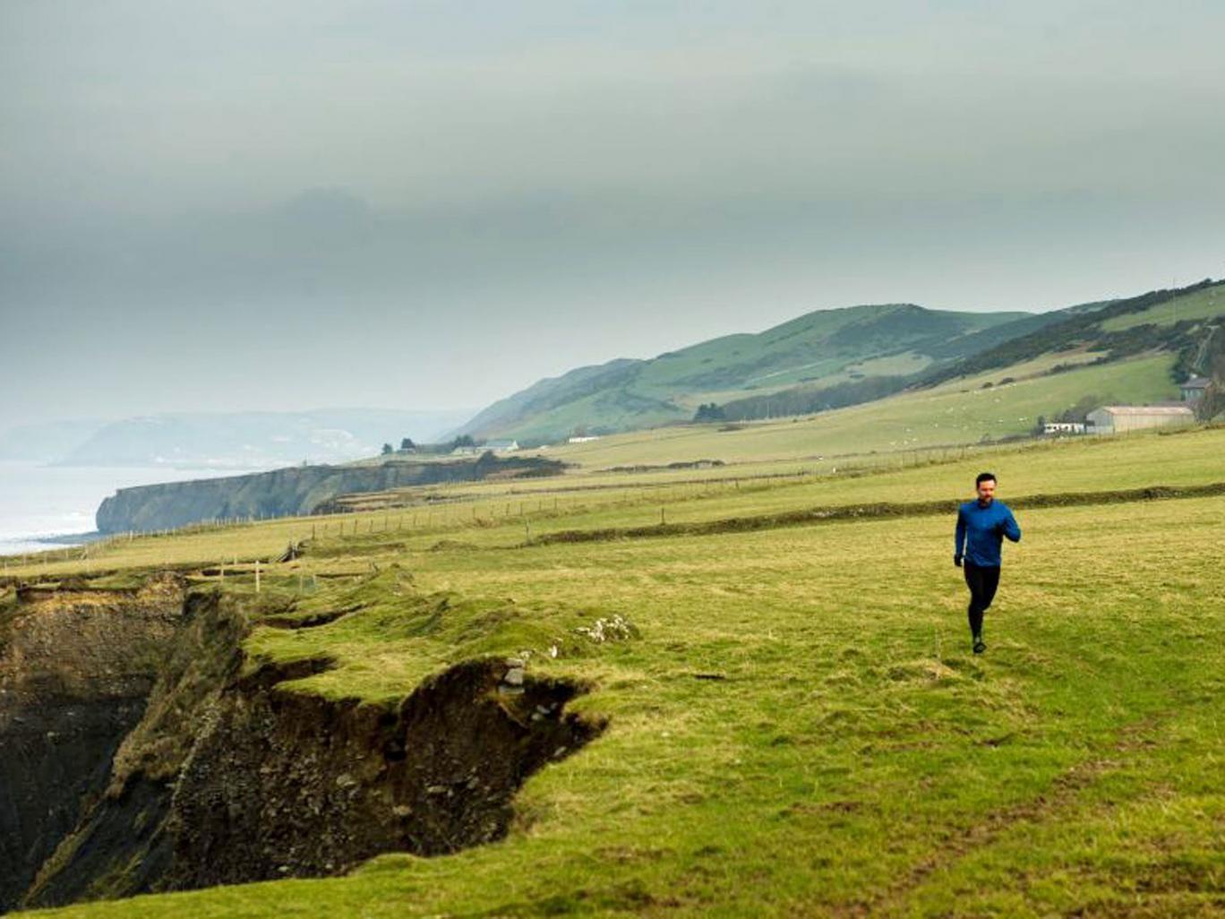 Running scared: Richard Harrington as DCI Tom Mathias in 'Hinterland'