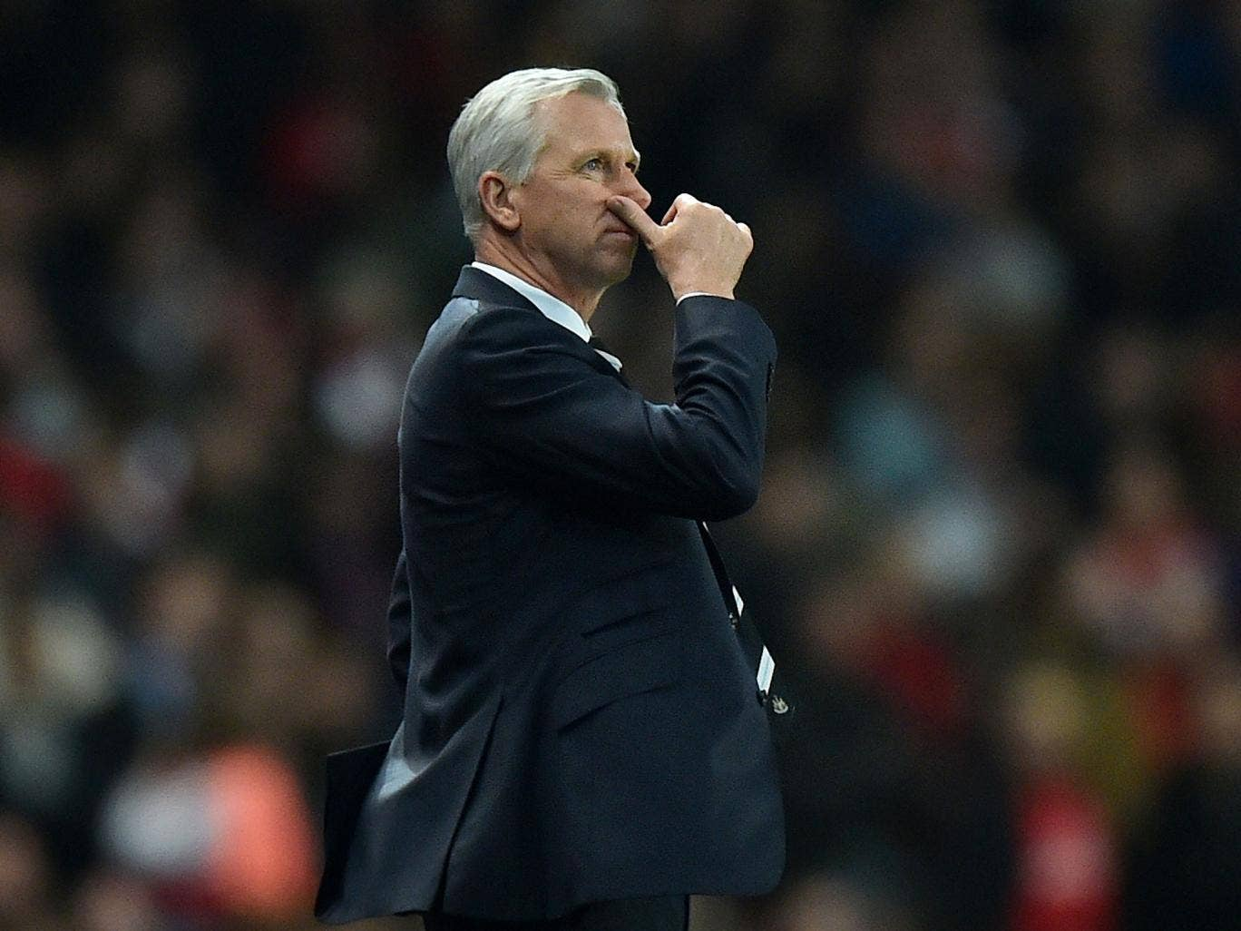 Alan Pardew returned to the touchline for the first time after a seven-match ban