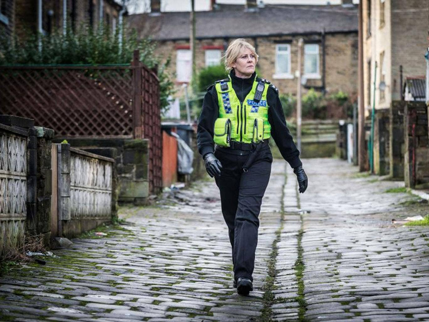 An arresting performance: Sarah Lancashire in 'Happy Valley'
