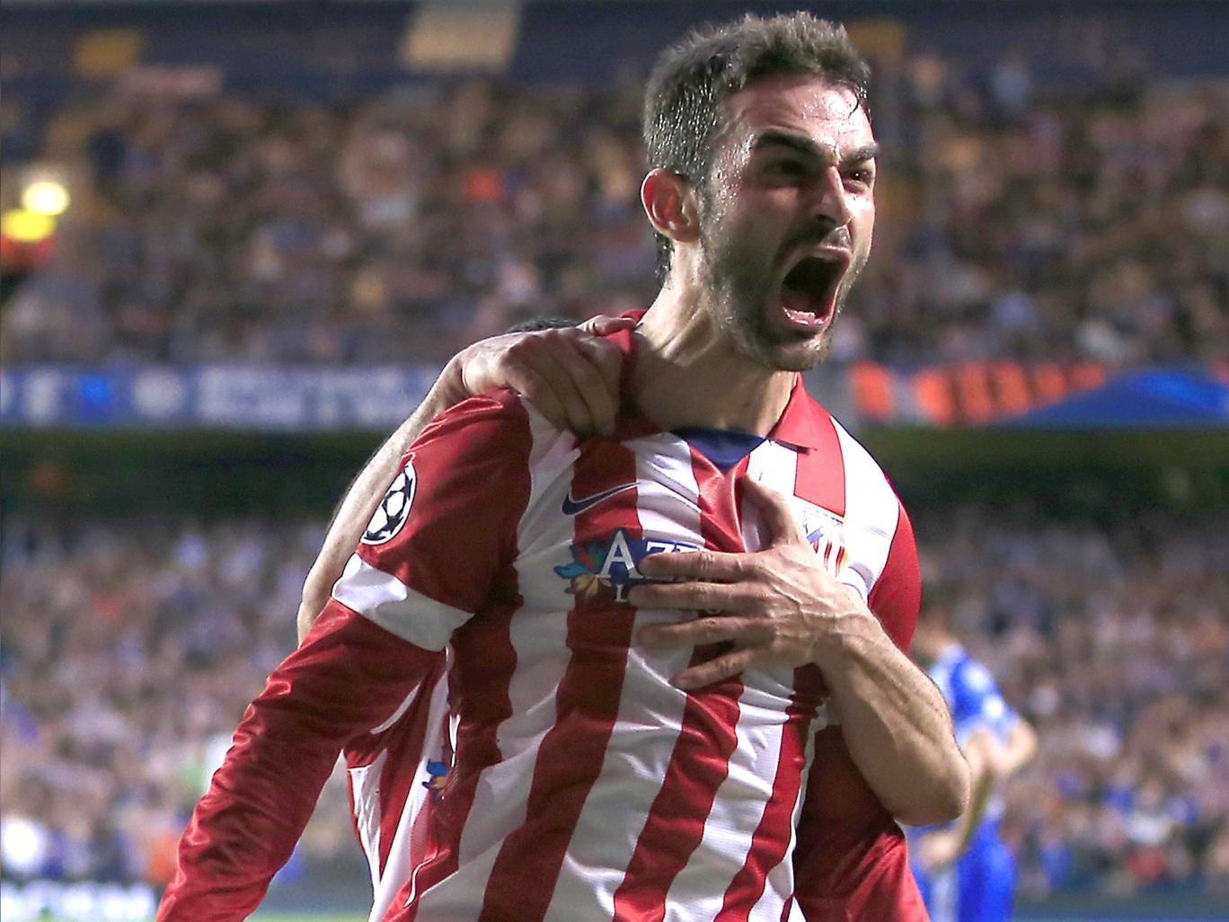 Lopez celebrates his goal