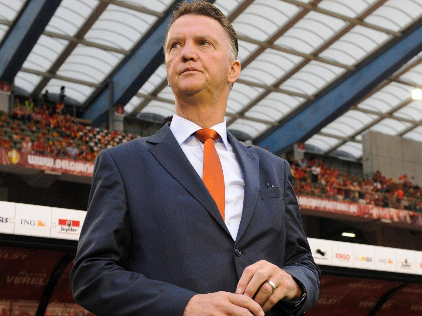 The Dutch FA does not want Louis van Gaal to be distracted by club matters before the World Cup