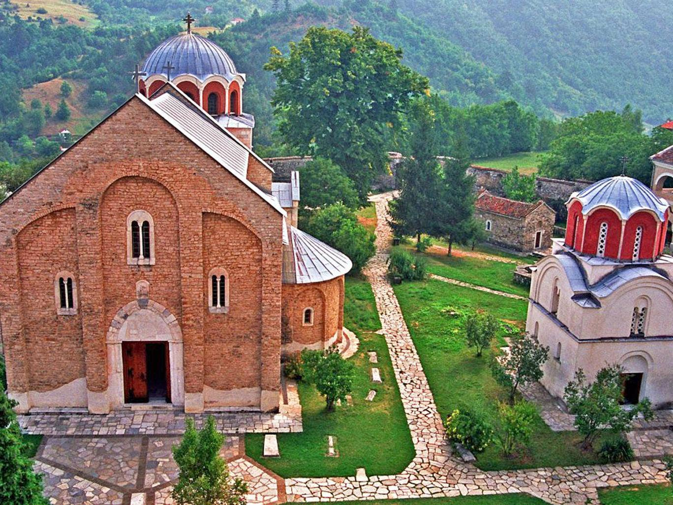 The monastery at Studenica is a world heritage site