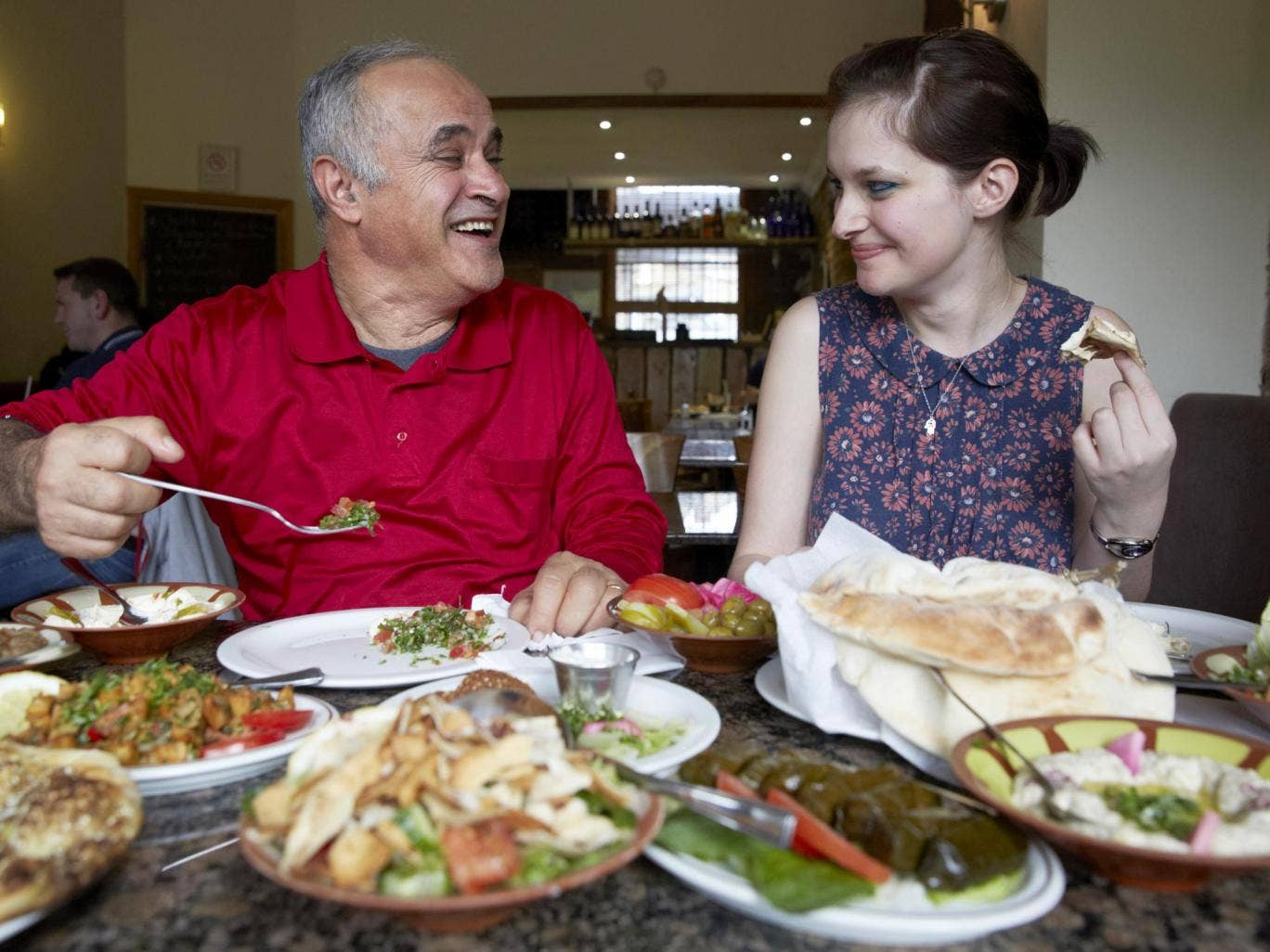 Pa for the courses: Sophie Robehmed dines with her father at The Cedar restaurant