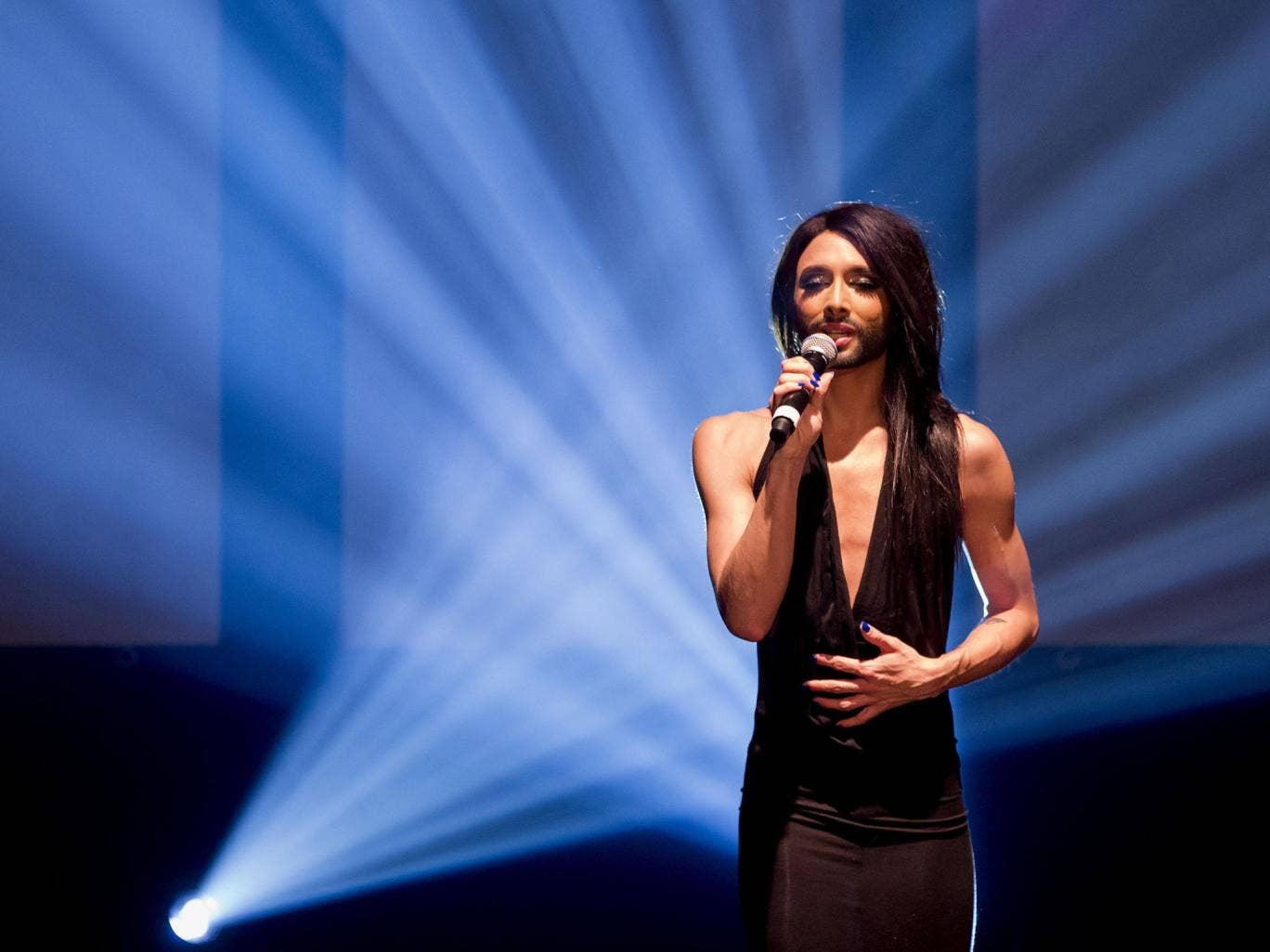 Conchita Wurst of Austria will perform 'Rise Like A Phoenix' at the Eurovision Song Contest