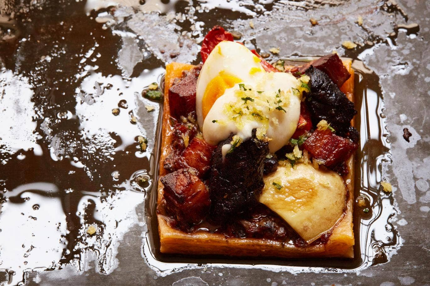 You can vary the topping on Mark's Full English tart