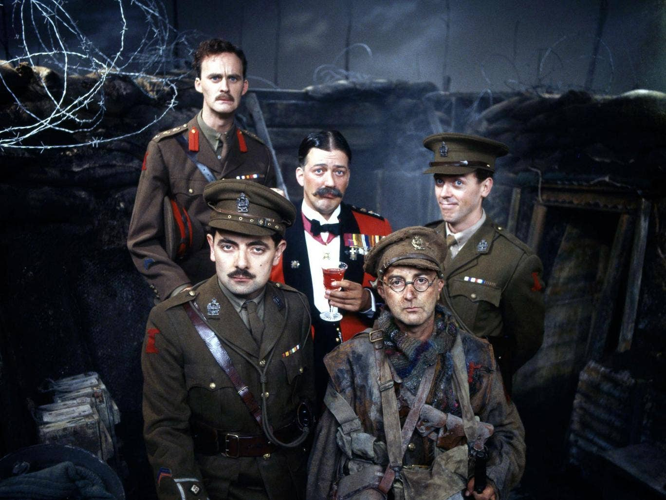 The cast of 'Blackadder Goes Forth'