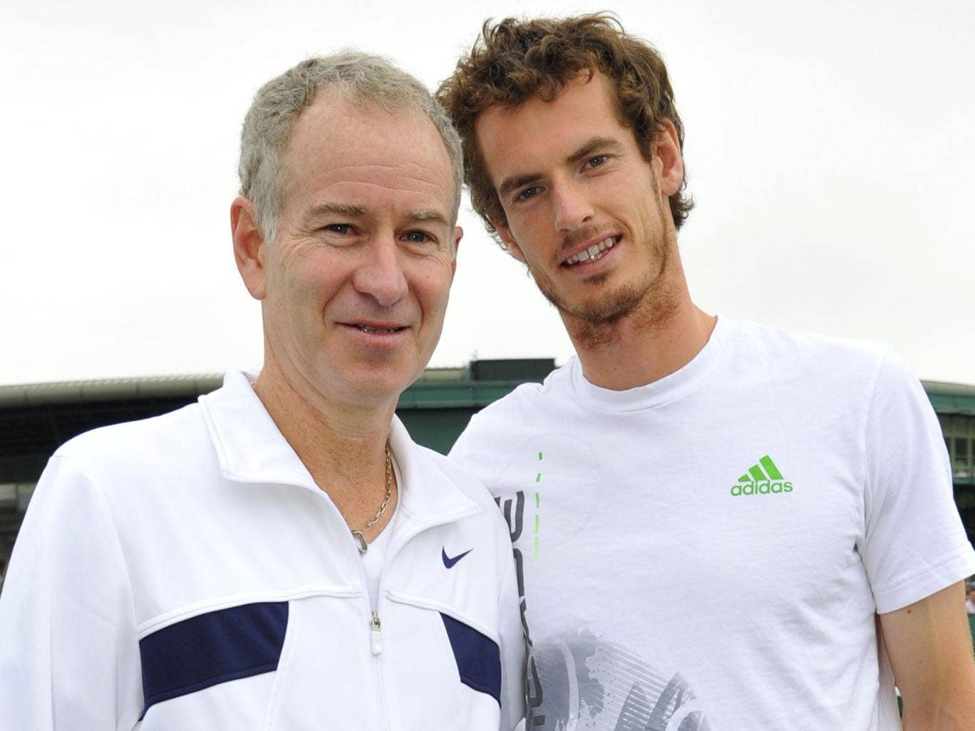 John McEnroe and Andy Murray pictured in 2011