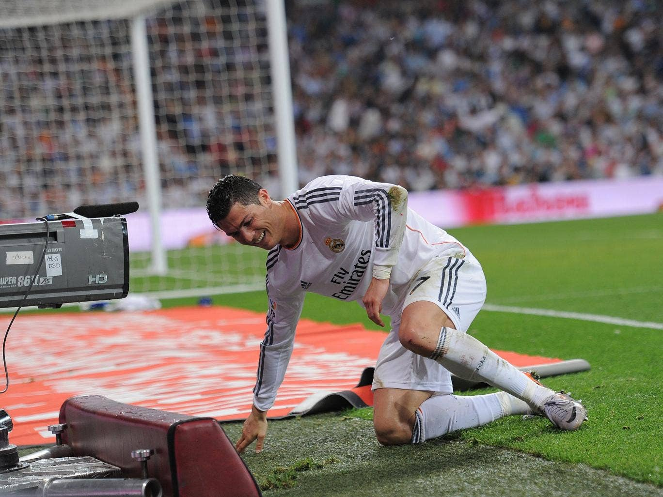 Cristiano Ronaldo in action for Real Madrid against Valencia