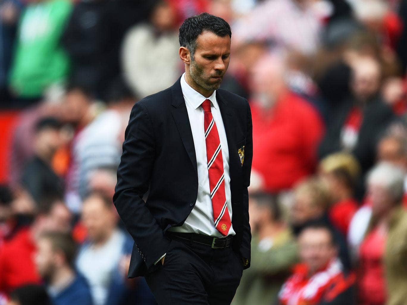 Ryan Giggs pictured after Manchester United's 1-0 defeat to Sunderland at Old Trafford