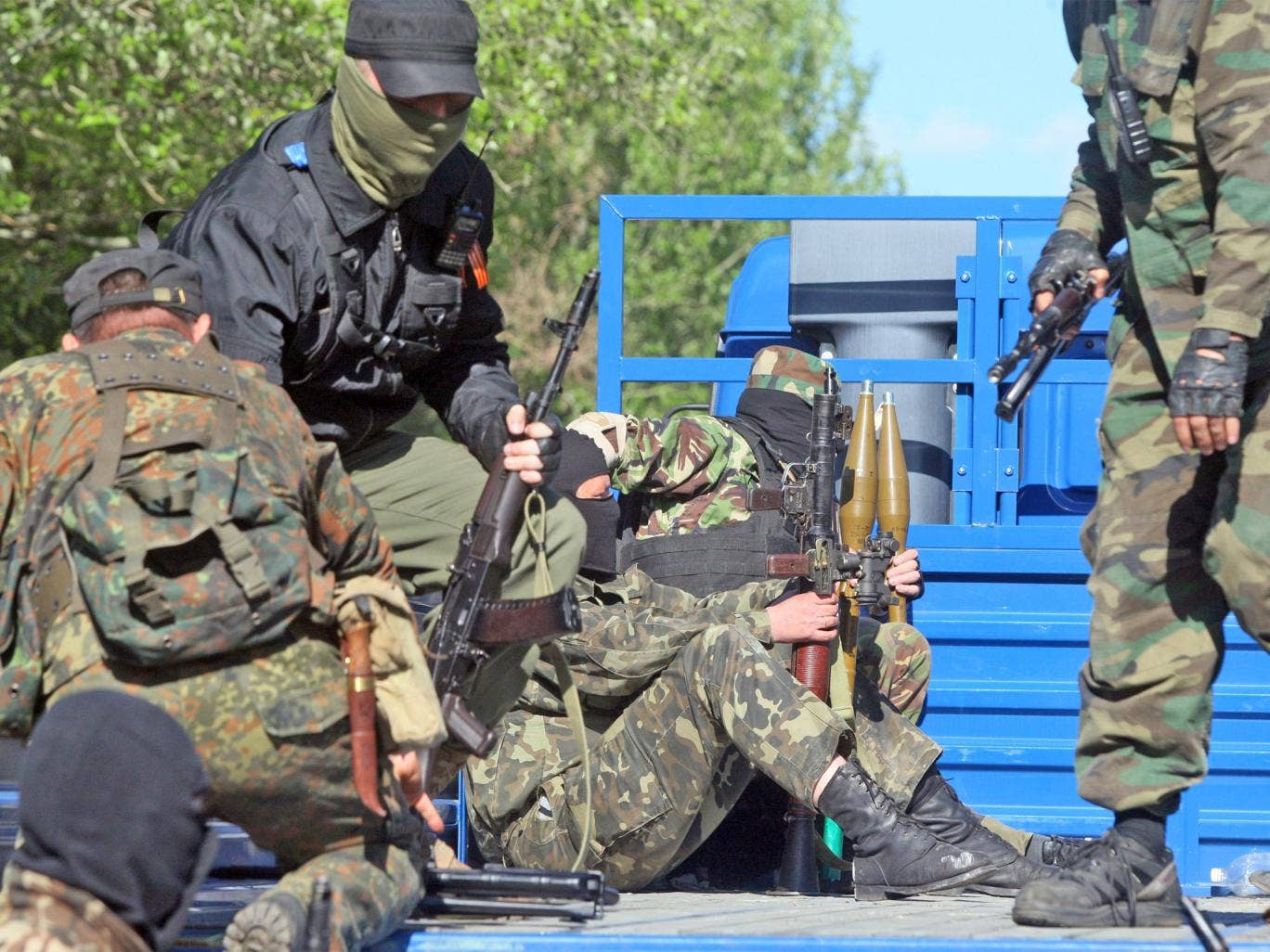 Pro-Russian militants in the eastern Ukrainian city of Donetsk