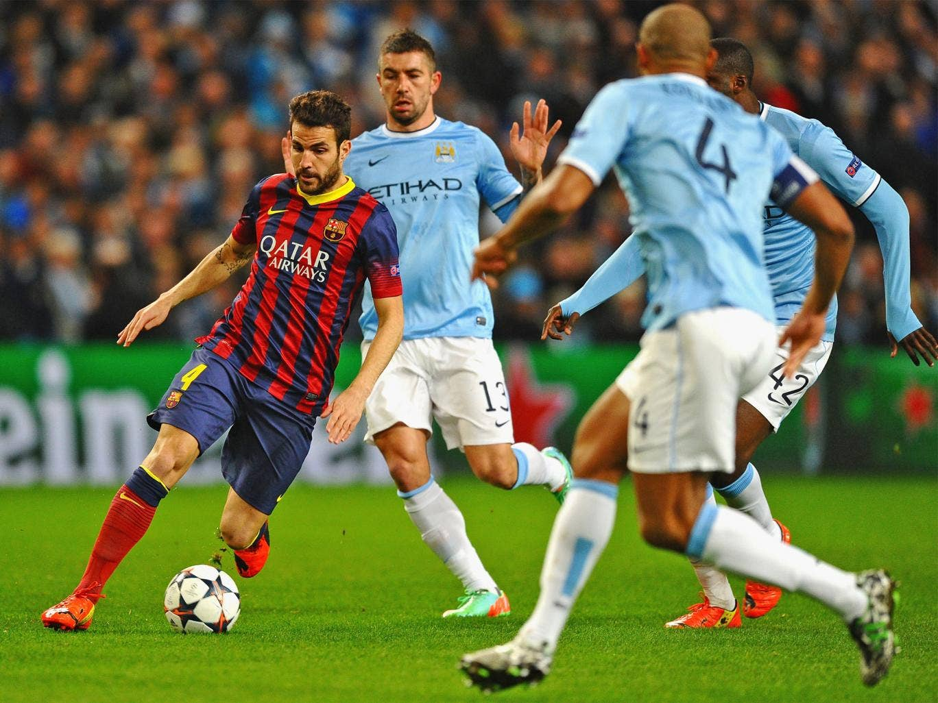 Cesc Fabregas could be a target for Manchester City, as he is classed as home-grown from his Arsenal days