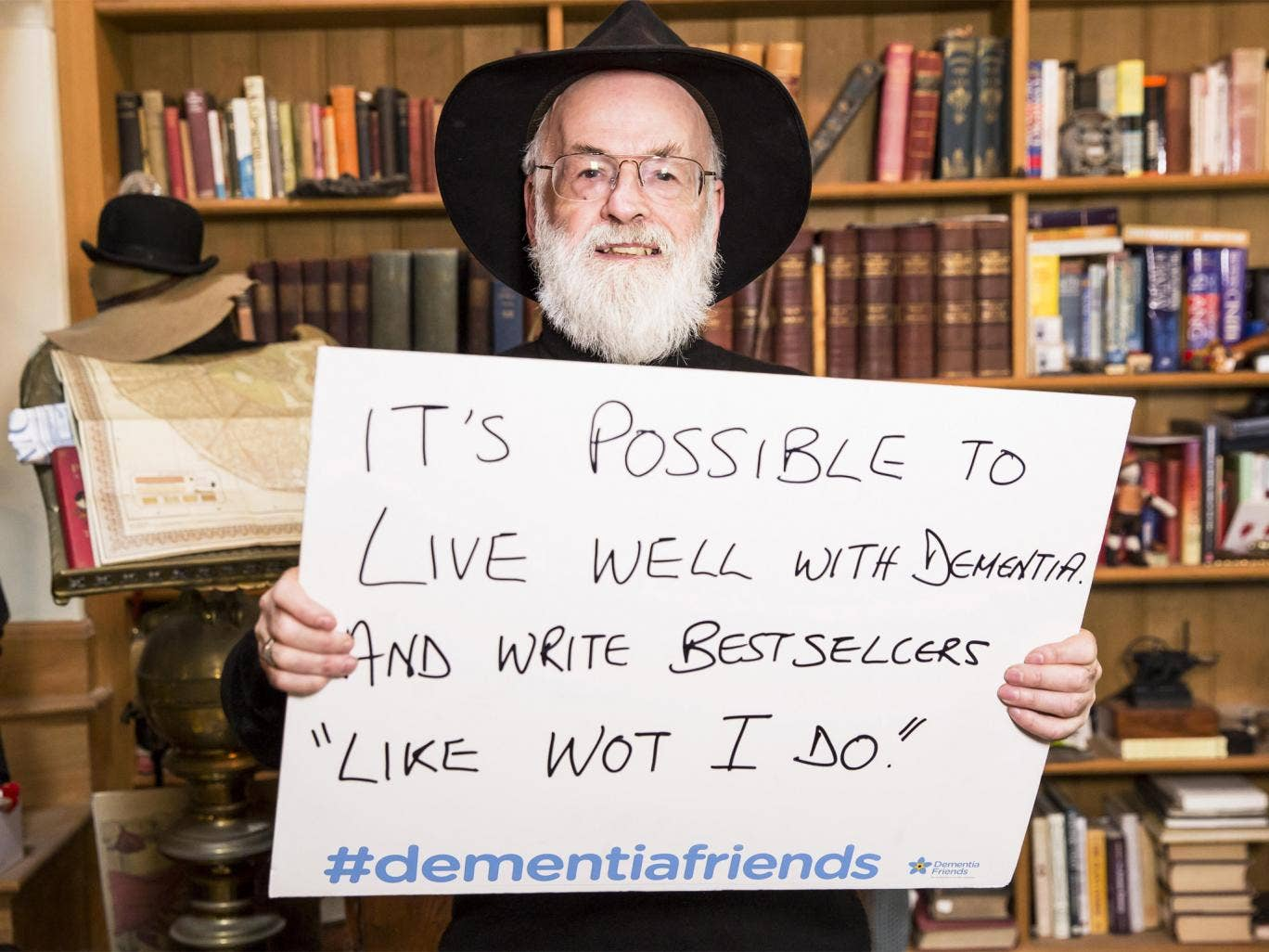 Terry Pratchett supported the Dementia Friends campaign