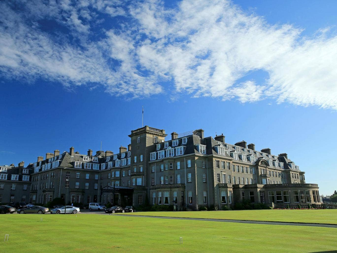 Gleneagles Hotel in Perthshire, the venue of the JPMorgan pensions conference attended by David Willetts