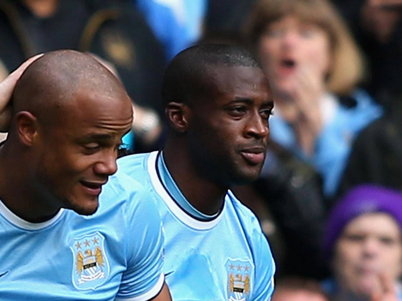 Yaya Toure – 7: Bossed the midfield. Continually looked to prompt his team and credited with an assist for Nasir's goal. Another who deserved his standing ovation on being substituted with the game and title won.