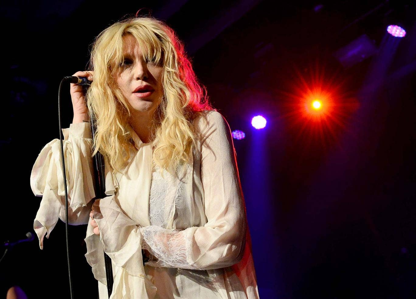 Courtney Love performs on stage inside the Hard Rock Hotel & Casino