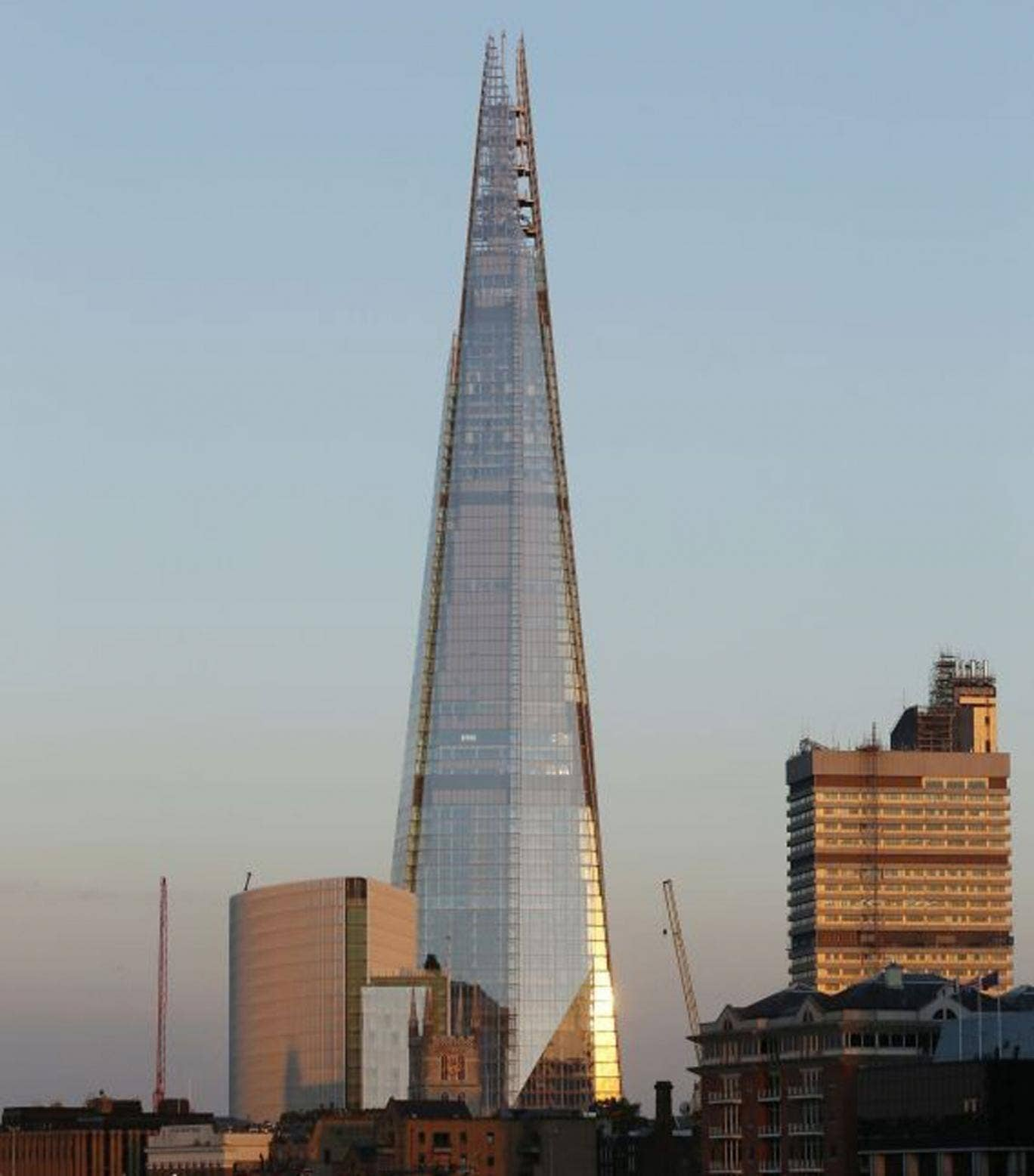 The Shangri-La hotel is housed on the 34th to 52nd floors of The Shard
