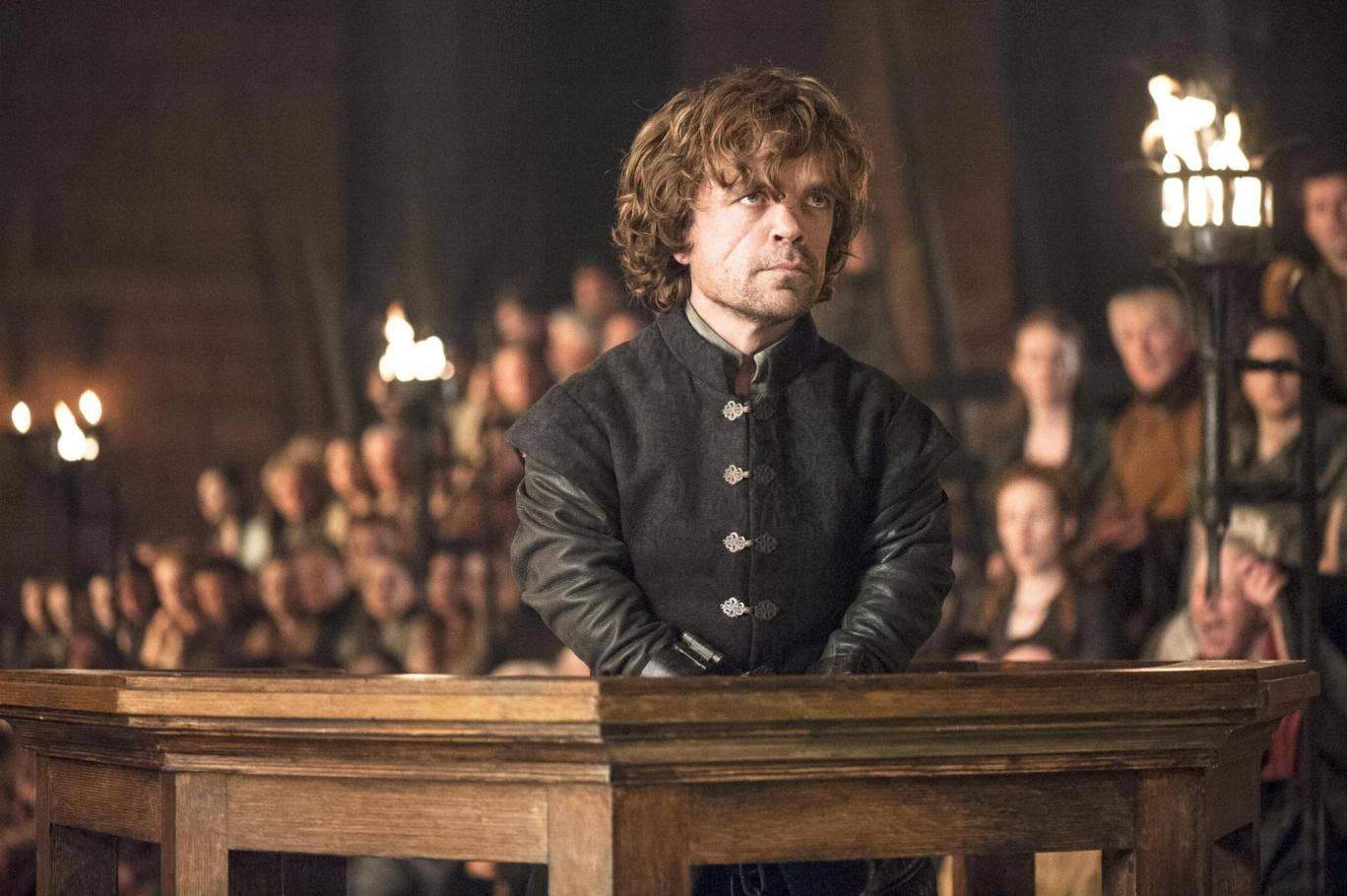 Tyrion in the dock as he tries to defend his name
