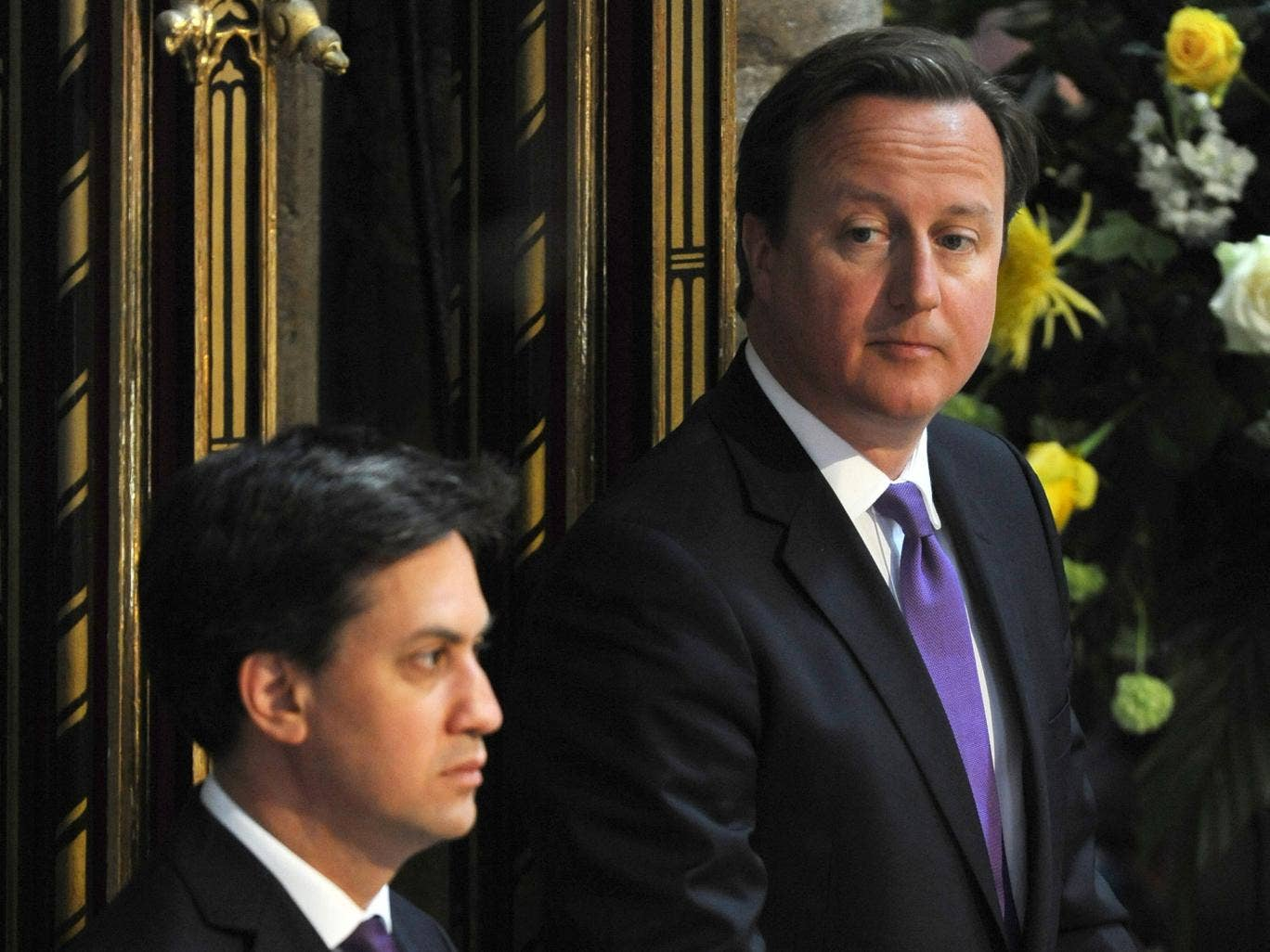 David Cameron's approval rating was plus 2 points, with 44 per cent of voters saying he was doing a good job as Prime Minister