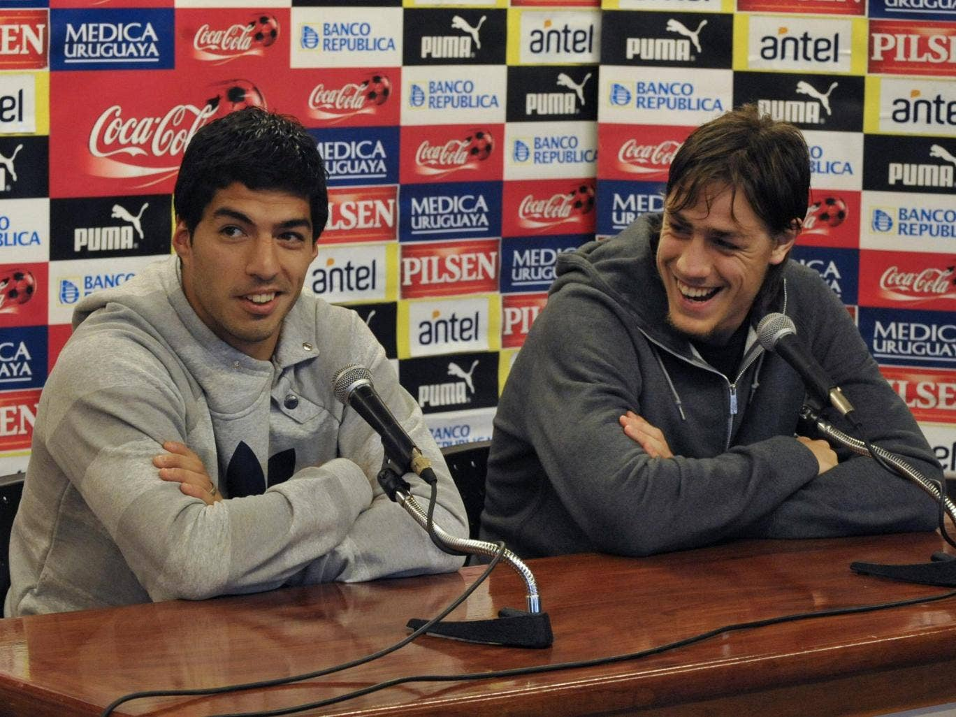 Luis Suarez and Sebastian Coates have been named in the Uruguay World Cup squad